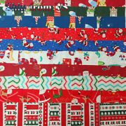 Lot Of 100 Pcs Christmas Fabric Charm Pack 5x 5 Squares Holiday Quilting Fabric