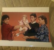 John Stamos+ Dave Coulier Signed 8x10 Photo Full House W/coa+proof Rare Wow