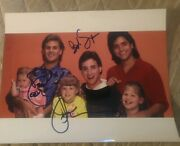John Stamos+ Dave Coulier+saget Signed 8x10 Photo Full House Wcoa+proof Rare Wow