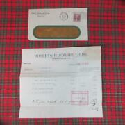 1933 Roberts Hardware Co., Utica Ny Invoice With 2 Discount For 10 Day Cash