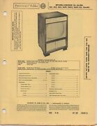 1956 Setchell Carlson 56 Television Service Manual Photofact Schematic 561 562 +
