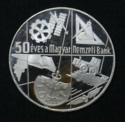 Hungary 100 Forint 1974 Proof Silver 50th Anniversary National Bank 6k Minted