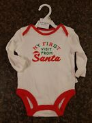 Carters Christmas One Piece My First Visit From Santa New