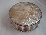 Snuff Box Table Size Antique Sterling Silver And M Of P Birmingham 1838