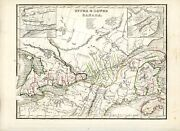 1835 Bradford Map Upper And Lower Canada Montreal Quebec St. Lawrence Fine Detail