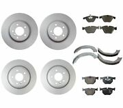 Genuine Front And Rear Brake Kit Disc Rotors Pads And Shoes For Bmw E90 E92 E84 335i