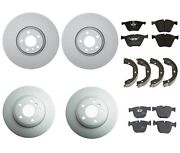 New Genuine Front And Rear Brake Kit Disc Rotors Pads And Shoes For Bmw E72 X6 10-11