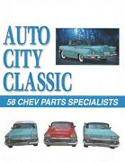 1958 Chevrolet Impala Convertible Top Pads And 58 Chevy Parts Catalog
