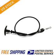 Fits 77-81 Firebird / Trans Am Gm Replacement Hood Latch Release Cable And Handle