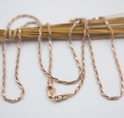 Real 18k Rose Gold Chain For Women Christmas White Rope Link Necklace 20and039and039l