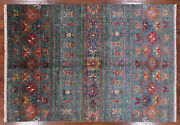 5and039 6 X 7and039 11 Tribal Gabbeh Hand Knotted Area Rug - Q3319