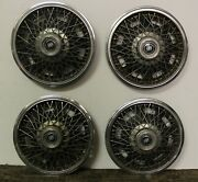 Oem Set 14 Wire Type Hub Cap Wheel Covers 25511220 1982-85 Buick Century W192