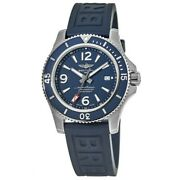New Breitling Superocean 44 Blue Dial Rubber Strap Menand039s Watch A17367d81c1s1