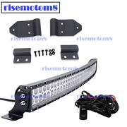 For Can-am Maverick Trail Roof 40 Led Curved Light Bar A-piilar Mount Wire Kit