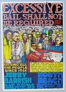 Excessive Bail Shall Not Be Required. Early 1970and039s Poster By Jerry Barrish