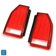 1987-1988 Monte Carlo New Ss Ls Tail Light Lamp Lens Gm 16508510 16508511 Pair