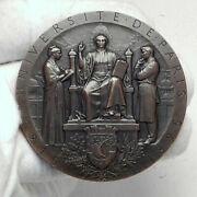1895 University Of Paris 700+ Years Antique French Motto Huge 6.5cm Medal I81629