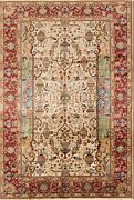 New Vegetable Dye Dynasty Historical Kashmar Hand Knotted Oriental Area Rug 7x10
