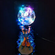 Dragon Ball Z Goku Son Gokou Genki Dama Spirit Bomb Statue Figure 14 Led Lamp