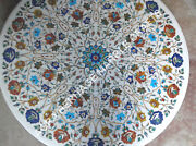 36 Multi Marble Marble Round Dining Hallway Table Top Decorative Garden E359