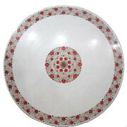 36 White Marble Coffee Table Top Hakik Unique Mughal Art Christmas Decor Gifts