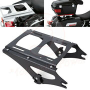 Detachable Twoup Tour Pak Pack Mount Luggage Rack Latch For Harley Touring 09-13