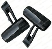 Qsc Black Door Mirror Assemblies W/ Arms Right Left Pair For Kenworth T680 T880