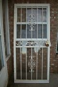 Sold As A Set 4 Security Doors, 3 Small And 5 Window Bars W/ Fire Escape In 3.