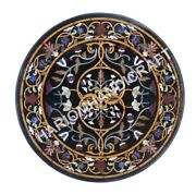 36 Round Marble Top Coffee Table Collectible Inlay Marquetry Home Decor E939c