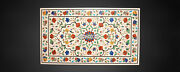 Multi Floral With Pietradure Dining Marble Table Top Inlay Home Arts Decor H3827