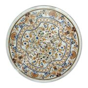 36 Marble Dining Table Top Collectible Stones Marquetry Inlay Home Decor E1057a