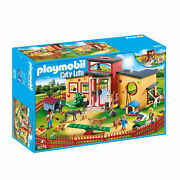 9275 Playmobil Tiny Paws Pet Hotel With Flexible Outdoor Fence City Life Suitabl