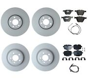 Genuine Front And Rear Brake Kit Disc Rotors Pads And Sensors For Bmw F06 2016-19