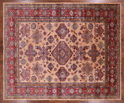 One Of A Kind Pink Super Kazak Area Rug 8and039 3 X 9and039 9 - Q3647