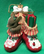 Charming Tails Christmas Ornaments - Bootie Baby 86/101 Limited Edition
