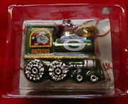 New Green Bay Packers Officially Licensed Nfl Blown Glass Train Ornament