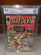 Daredevil 2 Cbcs 9.4 2nd Electro Ff 1964 White Pages Free Cgc Sized Mylar Cm