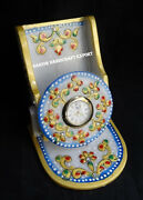 Marble Mobile Cell Phone Stand Cum Watch Hand Painted Art Indian Best Deco Gifts