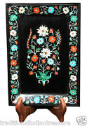 8x 6 Marble Belgium Tray Multi Floral Design Inlay Collectible Christmas Gift