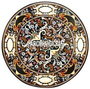 Pietradure Kitchen Table Top With Marble Top Inlay Intricate Rare Home Art H3876