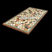 Marble Cubes Dining Table Top Room Restaurant Inlay Decorative Mosaic Arts H3829