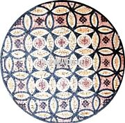 Marble Dining Table Mosaic Stone Inlaid Living Home Rare Collectible Decor H4022
