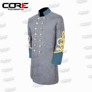 Us Civil War Confederate General's 4 Row Braid Double Breast Infantry Frock Coat