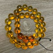 100 Natural Mexican Chiapas Amber Round Sphere Bead 16 Inch Strand