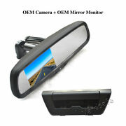 Tailgate Handle Reverse Backup Camera + Rear View Mirror Monitor For Ford F150