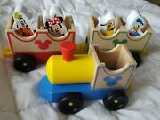 Disney Mickey Mouse And Friends Melissa And Doug Wooden Train Set
