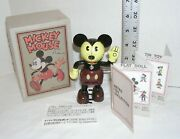Schylling Disney Wind-up Mickey Mouse 60060 Retro Tin Toy In Original Box