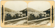 Stereo, Palestine, Nablus, The Shechem Of The Bible, 1901 Vintage Stereo Card -
