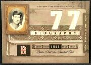 Ted Williams 2005 Donruss Playoff Biography Dual Bat Relic Boston Red Sox