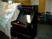 60 In One Coin Operated Arcade Game Sit Down Cabinet / Updated Electronics